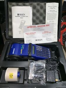 Brady Handimark Labeler Label Portable Maker Set With Case