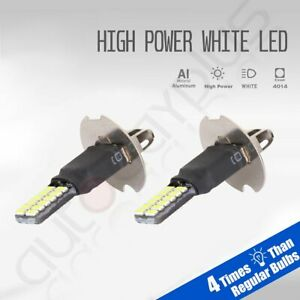 2x2019 H3 Cree Great Power Led Bright White Light 24smd Fog Driving Drl Bulbs