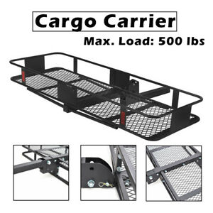 500lbs Folding Truck Suv Car Cargo Carrier Luggage Hitch Receiver Steering