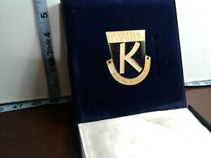 German Rally Enamel Motor Car Badge Plaque 1970 Kavalier Der Strasse
