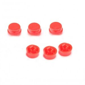 50pcs Round Red Push Button Cap Cover For 12x12x7 3mm Tact Micro Switches