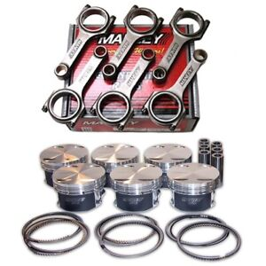 Manley Pistons h beam Rods For Toyota 2jz gte 86 5mm 9 0 1 Cr 93 98 Supra