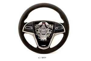 New Gm Oem Cadillac Ats 13 19 Black Suede Steering Wheel Ats V V Heated 84304427