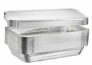 Deep Steam Table Pans Aluminum Chafing And Catering 10 Pack With Lids