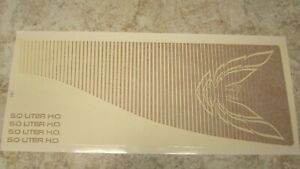 Trans Am 1983 Hood Bulge Factory Gold Decal Specific For 83 With 5 0 Litre H o