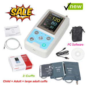 24 Hours Ambulatory Blood Pressure Monitor Nibp Holter With 3 Cuffs software usa