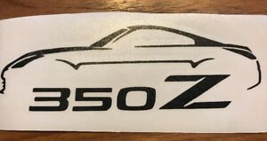 350z Nissan Z Decal Sticker 47 Color Options