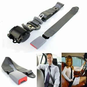For Gmc Car Truck 3 Point Safety Extender Seat Belt Universal Retractable Grey