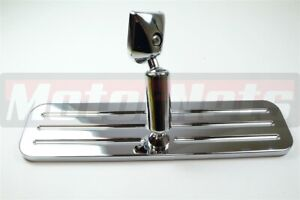 Polished Billet Aluminum 9 1 4 Rear View Mirror Ball Milled Hot Rod Street Rod