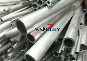 6061 Aluminum Tube Pipe Round 12mm Od X 10mm Id X 300mm 2mm Thickness L 12 Inch
