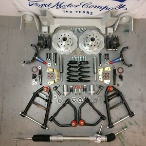 1964 70 Ford Mustang Ii Front End Suspension Ifs 2 Drop Spindle 5x4 5 Box Plate