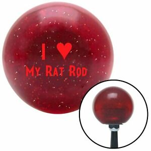 Red I 3 My Rat Rod Red Metal Flake Shift Knob Usa Shifter Auto Hurst Speed Race