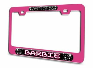 Barbie Princess Pink Steel License Plate Frame 3d Style
