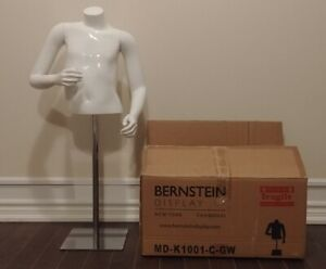 Bernstein Kids 1 2 Mannequin Girl Size 6 Fiberglass Gloss White W Square Base