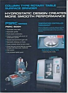 Rotary Surface Grinder Proth Mdl 600h Cnc Control 600mm Note 350mm Radius Cap
