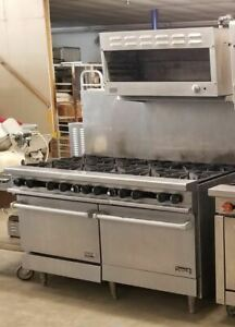 Therma tek 60 10 Burner Range 2 Standard Ovens With Dcs Cheese Melter