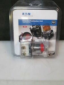Eaton 2 Pos Main Red Extended Push Stop Button 30 5mm Switch 1no 1nc New