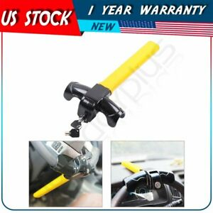 Anti theft T steering Wheel Lock Auto Car Security Rotary New 2 Keys Supplied
