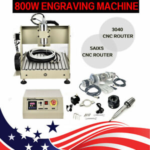 Usb Port 5 Axis Engraving Machine Cnc Router 3040 Engraver Mill Drill Vfd