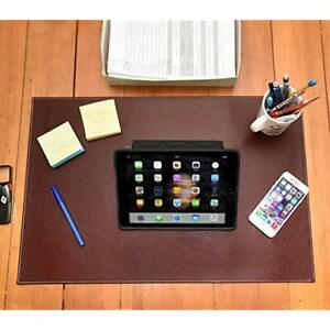 Desk Pad Blotter Protector Comfortable With Faux Leather Feels Smooth And Sturdy