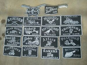 Car Club Plaques Pick 2 One Low Price Ford Chevy Plymouth Buick Mopar Lowrider