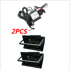 2x Us Front rear Hide Electric Retractable License Plate Frame W remote Control