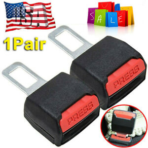 2pcs Car Seat Belt Clip Universal Alarm Extension Cancellers Plug Buckle