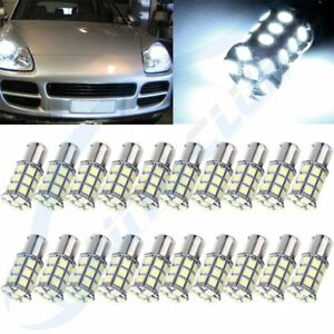 20pcs Daytime Running Light Xenon White Led Car 1156 Ba15s Bulb Drl 27smd 6000k
