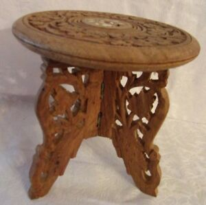 Wooden Carved Display Stand
