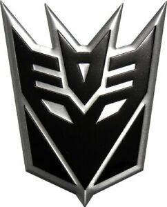 Transformers Decepticon Black Large Aluminum Emblem Sticker Cars Trucks Laptops
