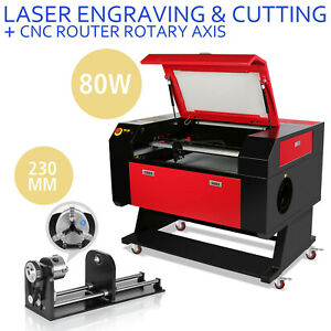 80w Co2 Laser Engraving Cutter Kit Rotary A axis Usb Port Auxiliary Woodworking