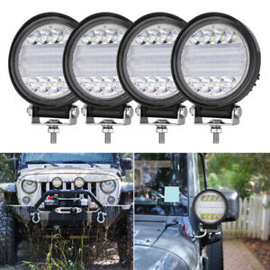 5 210w Led Quad Row Round Driving Work Light Bar Spot Flood Off Road Atv 4wd