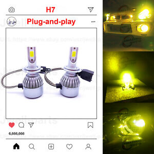 H7 Led Headlight Bulbs Kit High Low Beam 35w 4000lm Super Bright 8000k Ice Blue