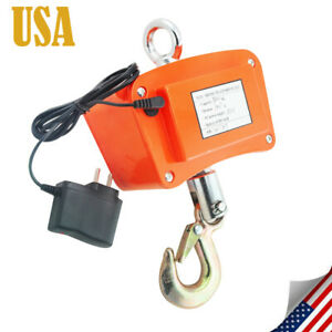 New 500kg 1100lbs Digital Crane Scale Heavy Duty Industrial Hanging Scale Weight
