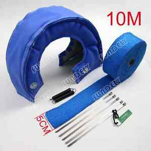 Us T4 Blue Out Lava Turbo Blanket 5cm X 10m Exhaust Header Heat Pipe Wrap Tape