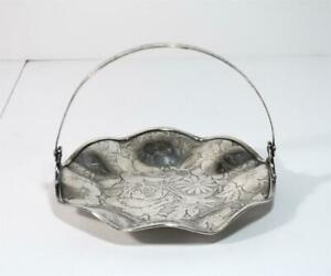W B Mfg Co Tapestry Silverplate Brides Dish Basket