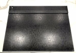 Realspace Desk Pad 17 X 23 In Black Faux Leather brand New