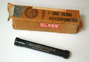Vintage Bacharach 12 2006 Sling Psychrometer In Box 30 To 110 Degrees Farenheit
