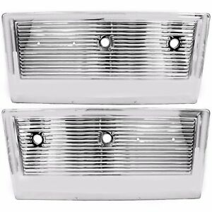 1967 1972 Chevy Pu Pickup Truck Inner Door Panel Chrome Pair Right Left Side