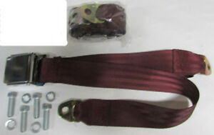 Maroon Seat Belt 2 Point Maroon Lap Seat Belts 2 With Mounting Kit