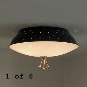 423b 50s 60 S Vintage Ceiling Light Lamp Fixture Atomic Mid Century Eames