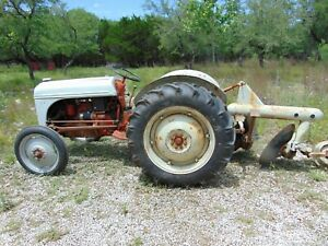 1949 Ford 8n Tractor And Harry Furgeson Disc Plow