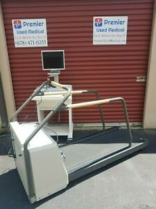 Ge Case Stress Test System W Marquette 2000 Treadmill Tested