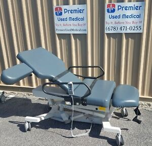 Biodex Ultrasound Pro Table W Hand Control 058 720 Blue Upholstery