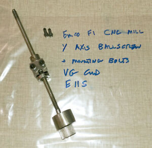 Emco F1 Cnc Mill Y Axis Ballscrew Assembly Ball Screw E11s