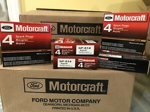 8pc Genuine Ford Motorcraft Platinum Spark Plugs Sp 547 Pzk1f Pzh1f Sp 514