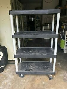 Plastic Rolling Cart 4 Tier Cart On Wheels Great Condition