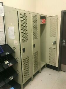 3 Column Locker Set Employee Lockers Uniform Lockers