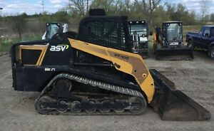 2009 Asv Pt100 Track Skid Steer 100hp Cab Ac heat 2 Spd New Tracks undercarriage