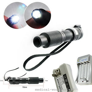 Handheld Mini Led Cold Light Source Endoscope 10w Bulb Lamp Battery Us Ship A